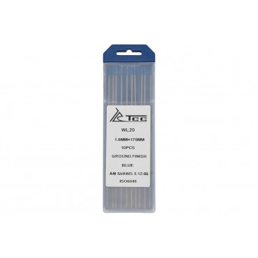 Вольфрамовый электрод синий ТСС WL20-175/1.6 (10 шт в упаковке)