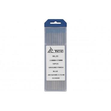 Вольфрамовый электрод синий ТСС WL20-175/2,0 (10 шт. в упаковке)