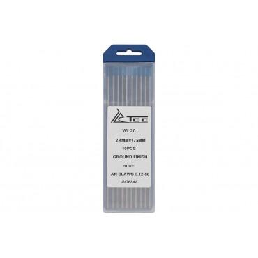 Вольфрамовый электрод синий ТСС WL20-175/2,4 (10 шт. в упаковке)