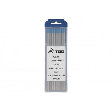 Вольфрамовый электрод синий ТСС WL20-175/4,0 (10 шт в упаковке)