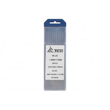 Вольфрамовый электрод синий ТСС WL20-175/1,0 (10 шт. в упаковке)
