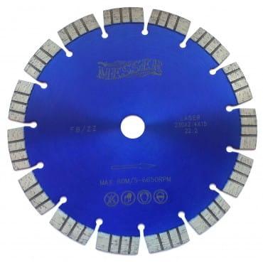 Алмазный диск Messer с увеличенным сегментом FB/ZZ, сухой 230D-2.4T-5W-15S-22,2