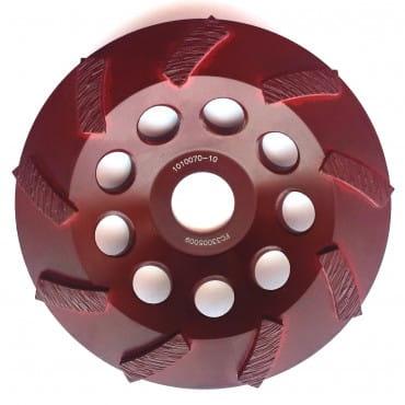 Алмазная шлифовальная турбо чашка Messer BG/M-SPEED 125D-5T-7.2W-18S-22.2