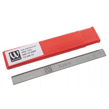 Нож строгальный JET HSS 18% 205X19X3мм (1 шт.) для 60А, 60C, JJ-8-M, JJ-8L-M, JJ-866