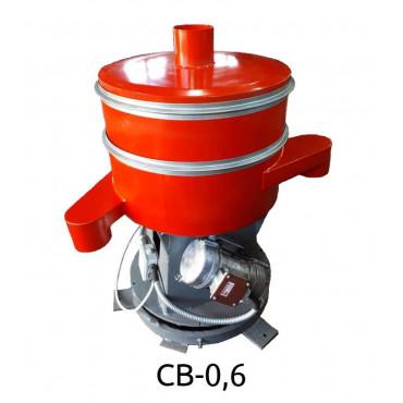 Вибросито круглое из низкоуглеродистой стали Вибромаш CВ-0,6 (1 дека)