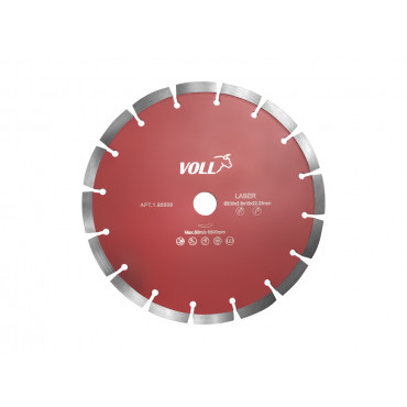 Диск алмазный сегментный ПРЕМИУМ для железобетона Voll 230х2,6х10х22,23