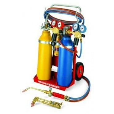 """Rothenberger 35400 Универсальный набор """"тройной газ""""  RE17 AMS 5/5 передвижной"""