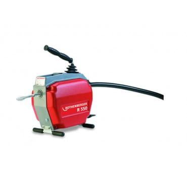 Переносная электрическая машина для чистки труб R550 Rothenberger, 250Вт, 5 спиралей 16 мм, насадки и принадлежности