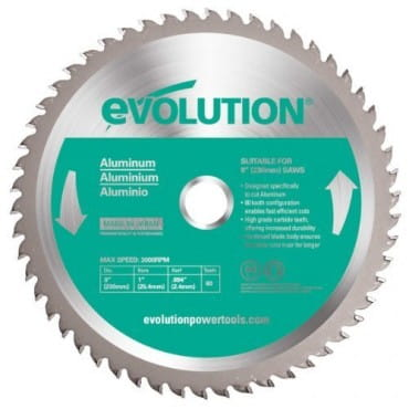 EVOLUTION EVOBLADE230AL 230х25,4х2,0х80 Диск по алюминию
