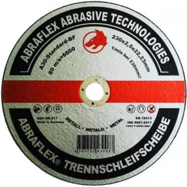 Abraflex Отрезной круг А-30 Standard BF (металл) 230х2,5х22,23, 25 шт./упак.
