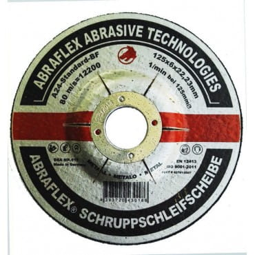 Abraflex Зачистной круг А-24 Standard BF (металл) 125х6х22,23, 10 шт./упак.