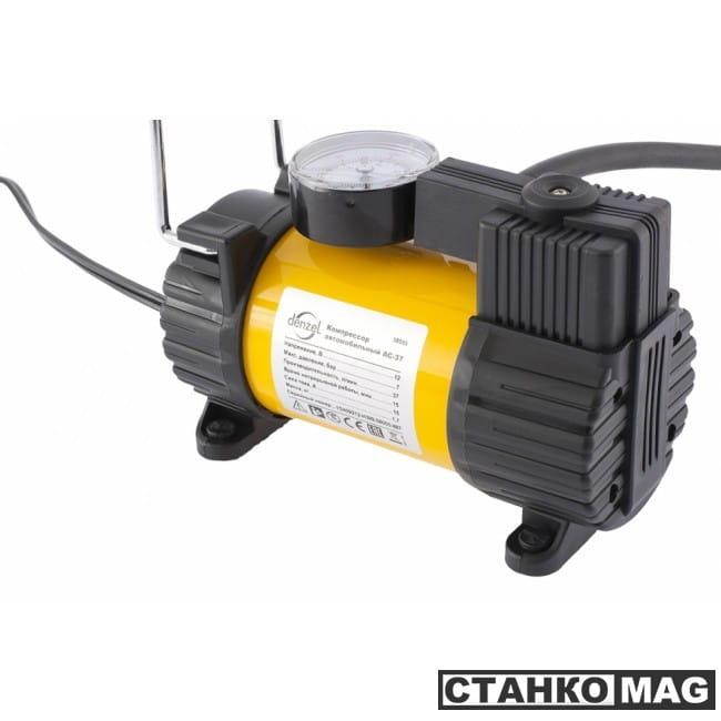 Denzel Компрессор автомобильный AC-37 (12 В, 7 атм., 37 л/мин, автомоб. предохранитель)