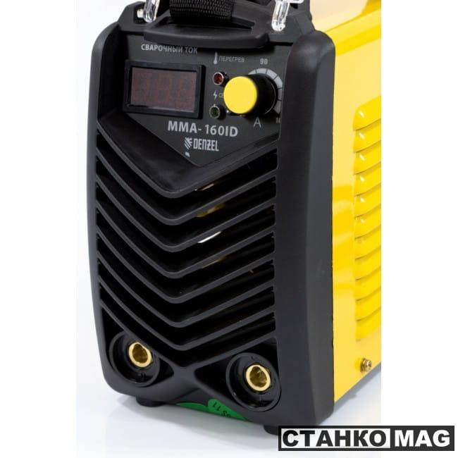 Denzel Аппарат инверторный дуговой сварки ММА-160ID (160 А, ПВР 60%, диам.эл. 1,6-3,2 мм, провод 2м)