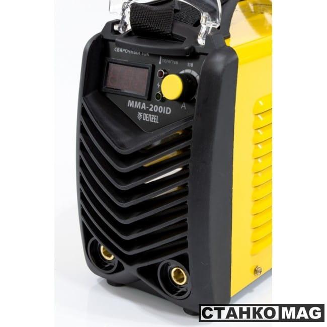Denzel Аппарат инверторный дуговой сварки ММА-200ID (200 А, ПВР 60%, диам. эл. 1,6-5мм, провод 2м)
