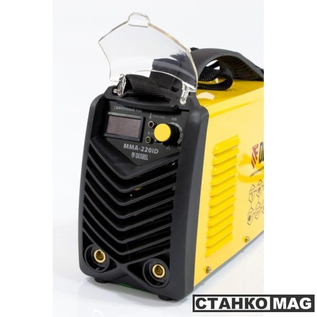 Denzel Аппарат инверторный дуговой сварки ММА-220ID (220 А, ПВР 60%, диам. эл. 1,6-5 мм, провод 2м)