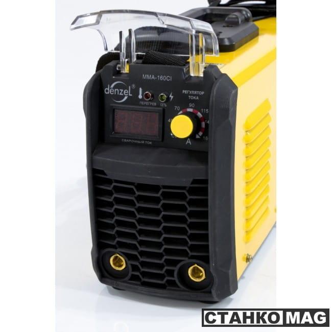 Denzel Аппарат инверторный для дуговой сварки ММА-160CI (160 А, ПВР 80%, диам. 1,6-4 мм)
