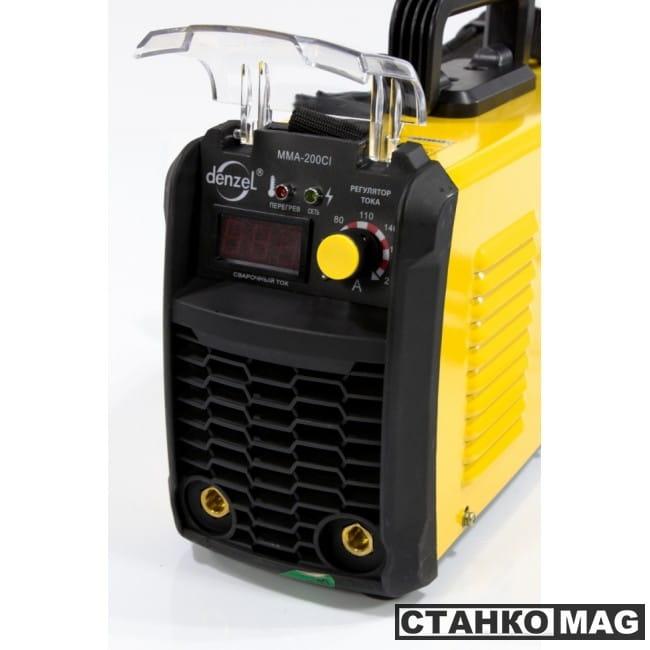 Denzel Аппарат инверторный для дуговой сварки ММА-200CI (200 А, ПВР 80%, диам. 1,6-5 мм)