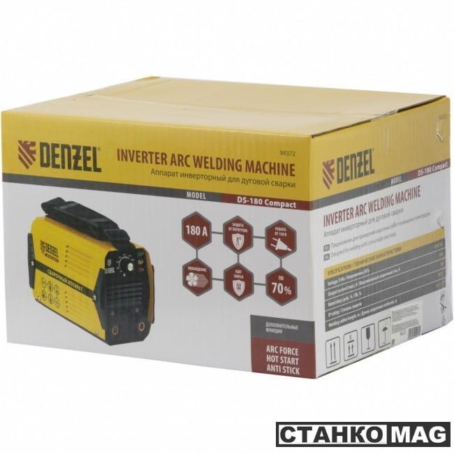 Denzel Аппарат инвертор. дуговой сварки DS-180 Compact (180 А, ПВ 70%, диам.эл. 1,6-4 мм)