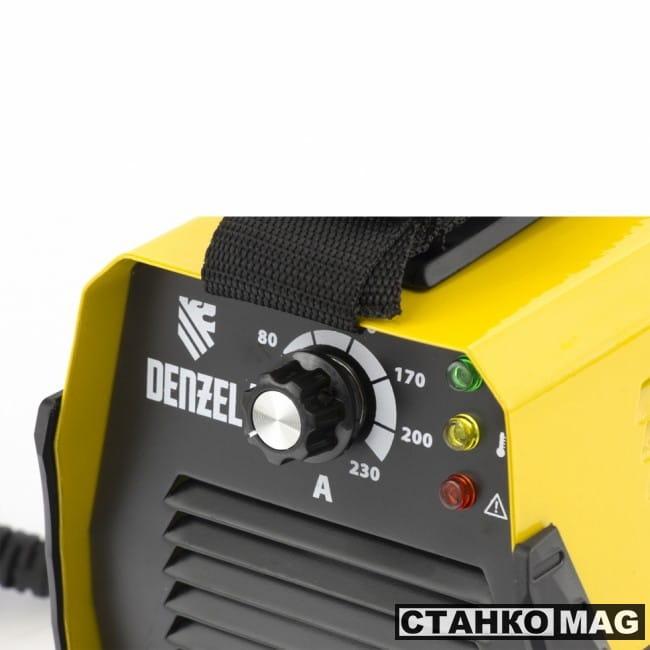 Denzel Аппарат инвертор. дуговой сварки DS-230 Compact (230 А, ПВ 70%, диам.эл. 1,6-5 мм)