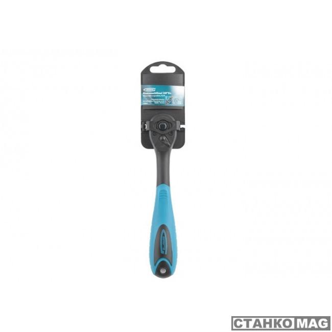 Ключ-трещотка GROSS 3/8, 72 зуба, Comfort, с быстрым сбросом, CrV, двухкомпонентная рукоятка