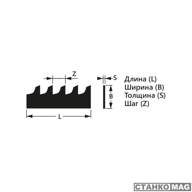 Полотно пильное по дереву БЕЛМАШ Pilana 10 х 0,6 x 6 L-2375