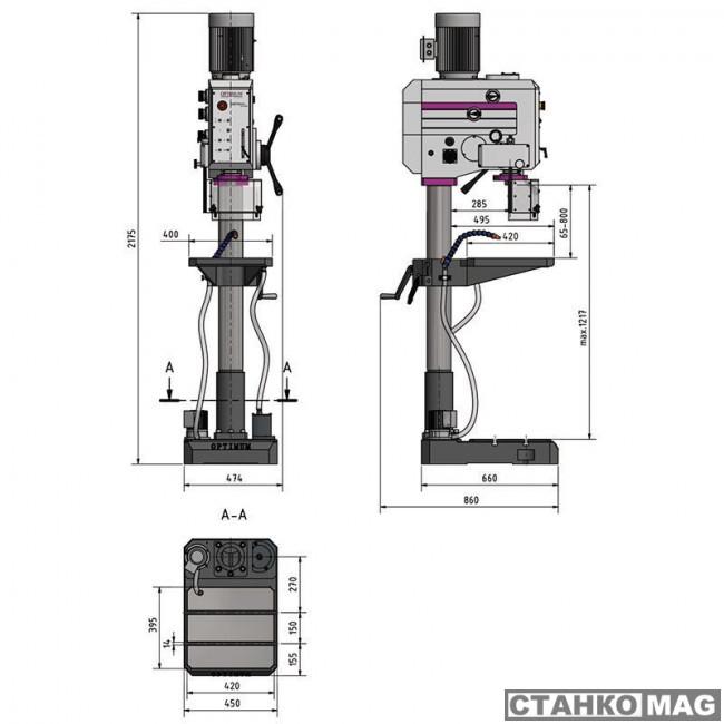 Вертикально-сверлильный станок OPTIMUM OPTIdrill DH 35 G