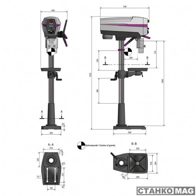 Вертикально-сверлильный станок OPTIMUM OPTIdrill DP 26-F (230 V)