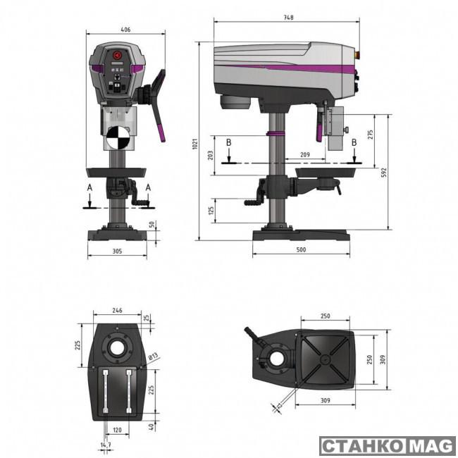 Вертикально-сверлильный станок OPTIMUM OPTIdrill DP 26-T (400 V)