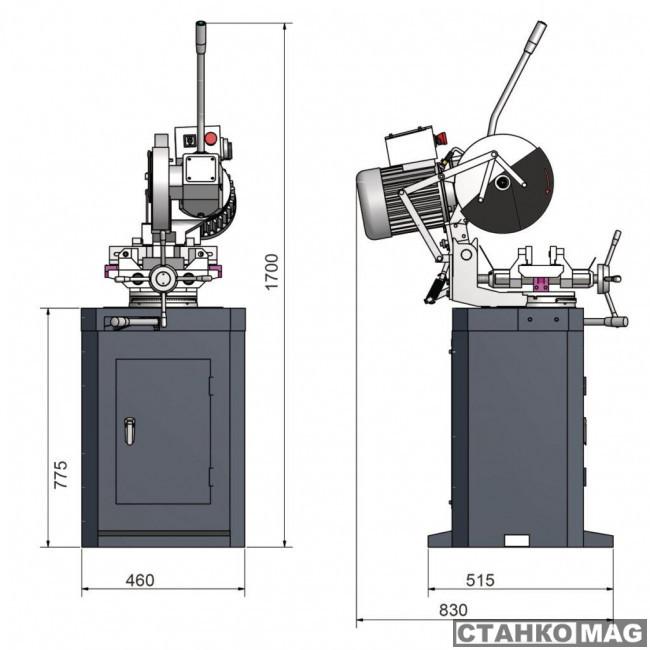 Ленточнопильный станок OPTIMUM OPTIsaw CS 275