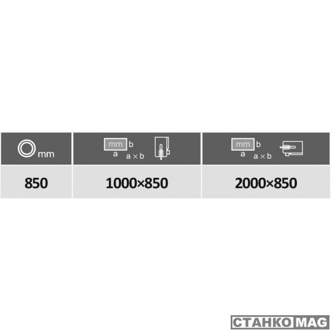 Автоматический двухколонный ленточнопильный станок PEGAS-GONDA 850×1000 GOLEM