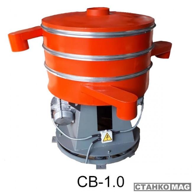 Вибросито круглое из низкоуглеродистой стали Вибромаш CВ-1,0 (2 деки)