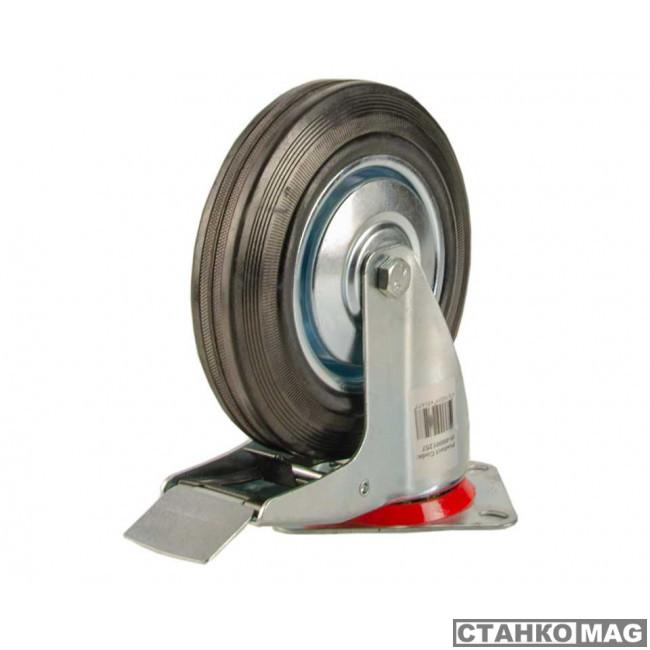 поворотное, с тормозом, г/п 150кг (160*40,0 мм) 00-00001255 в фирменном магазине EURO-LIFT
