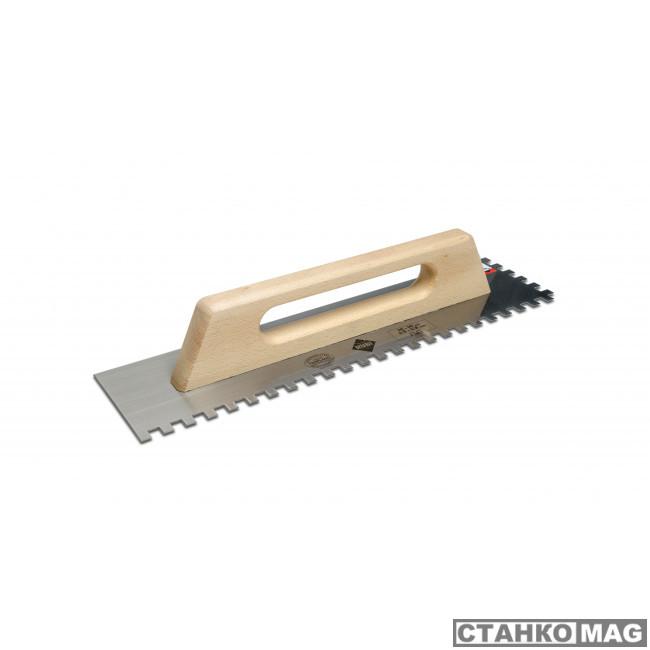 480 мм зуб 10x10 мм с деревянной ручкой 65983 в фирменном магазине RUBI