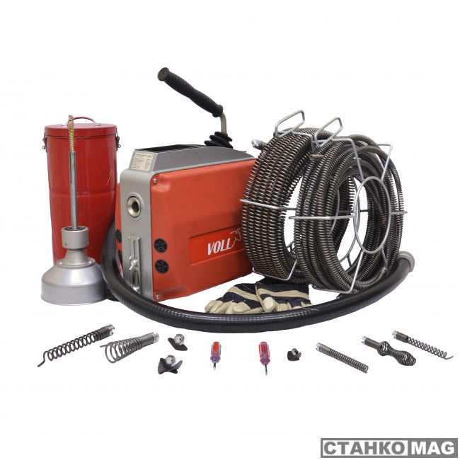 Машина для прочистки труб RothenbergerV-Clean 150 с принадлежностями